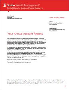 New ScotiaMcLeod Performance & Fee Statement